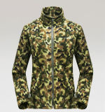 Women′s Fashion Camouflage Polar Fleece Jacket