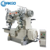 Sk-600 Flatbed T-Shirt Direct Drive High Speed Auto Trimmer Interlock Stretch Sewing Machine