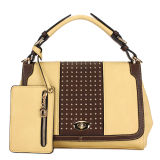 with Big Wallet Rivet Hit Color Fashoin Handbag