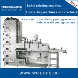 Multicolor Flexo Printing Machine with Die Cutting and Slitting Stations