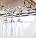 Under Cabinet Chrome Wine Glass Hanger Rack Stemware Rack