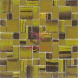 Gold Color Glass Mix Metal Mosaic (CFM883)