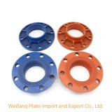FM/UL Certificated Casting Ductile Iron Pipe Fittings Grooved Adaptor Flange with Lower Price