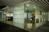 Modern Office Wooden Aluminum Glass Partition Wall (NS-NW032)