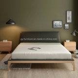 Solid Ash Wooden PU Leather Headboard Double Bedroom Bed