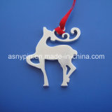 Personalized Christmas Animal Design Ornament Cut out Silver Elk Design Decoration Ornament