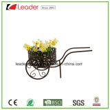 Metal Wheel Cart Flowerpots for Home and Garden Decoration