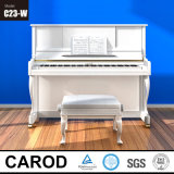 White Mechanical Acoustic Carod Upright Piano