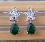 Fashion Cubic Zircon Teardrop Diamond Crystal Earrings Jewelry