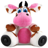 Plush Animal Bluetooth Speaker Pink Cow Lovely Bluetooth Speaker