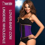Women Sport Steel Boned Latex Waist Trainer Cincher Corset (L42632-2)