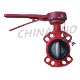Ductile Iron Soft Seal Seat Wafer Butterfly Valve