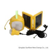 Yellow LED Solar Lamp Lantern Light with Mobile Phone Charger