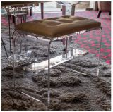 Crystal Acrylic Piano Bench with Leather Seat Cushion Apb-011