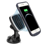 Magnetic Car Mount Charger with Magnetic Wireless Charging Case
