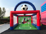Top Sale Inflatable Soccer Shooting Game, Inflatable Football Sport Games
