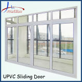 New Design Picture Cheap PVC Double Tempered Glass Sliding Window and Door Price