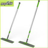 Crystal Microfiber Flat Mop with Telescopic Alu Handle Clap Holder Rubber Coated Household Mop