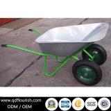 Zinc Plated Galvanized Wheelbarrow Wb6431 Metal Concrete