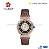 Ladies Genuine Leather Strap Quartz Watch Women Rhinestone Dress Watches Fashion