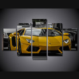 HD Printed Yellow Sport Car Picture Painting Wall Art Canvas Print Room Decor Print Poster Picture Canvas Mc-123