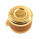 High Quality Zinc Alloy Gold Plating Cigar Ashtray for Hotel