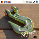 Yellow Zinc Alloy Steel Clevis Grab Hooks A330