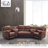 American Style Home Theater Genuine Recliner Leather Cinema Sofa
