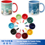 Sublimation Blank Ceramic Mug with Color Inside and Handle