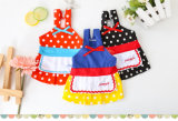 Polka DOT Pet Clothes Dog Costume Product Maid Suit