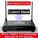 Custom Made H2 Android7.1 TV Box SATA Hard Disk 2tb Rk3229 Quad Core 2GB 16GB 1500+ Live TV Channels 1000+ VOD