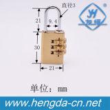 Yh1226 Youheng Brand Different Sizes 3 Wheels Brass Padlock Code Lock