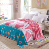 Cheap Printed Microfiber Coral Flannel Fleece Throw Blanket
