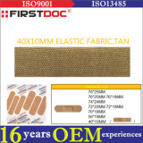 High Quality OEM 40*10mm Elastic Fabric Tan Color Adhesive Bandages