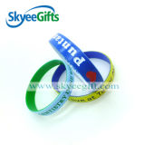 Personalized Dual Layer Silicone Wristbands with Competitive Price