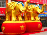 Inflatable Huge Cartoon Model for Advertising Inflatable Product Large Ox/Gold