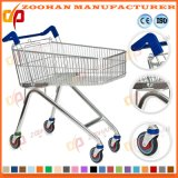 Durable European Style Zinc Supermarket Shopping Cart Trolley (Zht135)