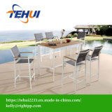 Modern Aluminum Table Wholesale Outdoor Polywood Leisure Bar Chair and Table Set Patio Hotel Garden Furniture