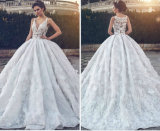 Sleeveless Wedding Gown Lace Tulle Bridal Wedding Dress L15315