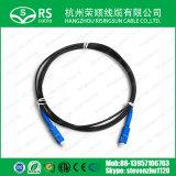 Single Mode Gjxh SC/PC Upc APC FTTH Fiber Optic Patchcord Cable