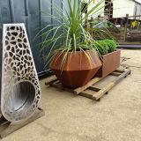 Fo-9c42 Customized Rusted Corten Steel Flower Planter