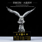 Fashion Crystal Glass Eagle Craft for Office Gift (KS06045)