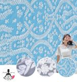 Wholesale 100% Polyester Wedding Dress Flat Embroidery Textile Lace Fabric