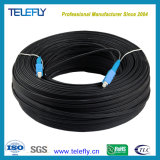 Self-Supporting Sm Sx Sc to Sc FTTH Optic/Optical Drop Cable Patch Cord/Jumper, 1 Core, 3 Wires