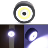 Super Mini COB LED Flashlight Round Circular COB Flash Light Lamp with Magnetic Base+ Hanging Hook for Camping Lighting