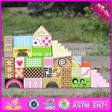 2017 Wholesale New Design 28 Pieces Children Wooden Block Set High Quality Colorful Kids Wooden Block Set W13A120