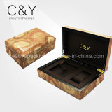 Classical Wooden Watch Box with Solid Hinge