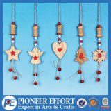 Wooden Star Heart Angel Snowflake and Mini-Tree for Hanging Ornament Decoration