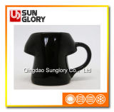 Black Glazed Porcelain Mug of Syb009