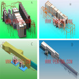 High Quality Install Aluminum Profile Powder Coating Production Line